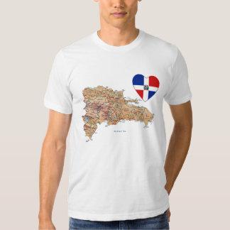 Corazón de la bandera de la República Dominicana y Camisetas