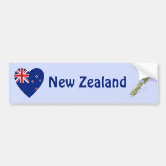 Corazón de la bandera de Nueva Zelanda + Pegatina  Pegatina Para Coche