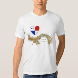 Corazón de la bandera de Panamá y camiseta del