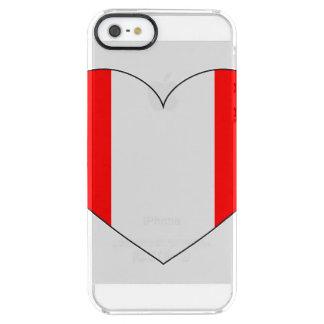 Corazón de la bandera de Perú Funda Transparente Para iPhone SE/5/5s