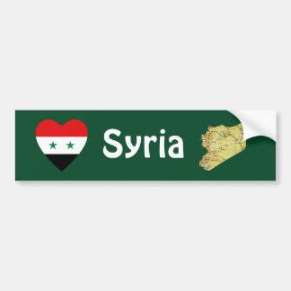 Corazón de la bandera de Siria + Pegatina para el  Pegatina Para Coche
