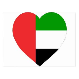 Corazón de la bandera de United Arab Emirates Postal