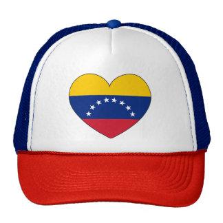 Corazón de la bandera de Venezuela Gorras De Camionero