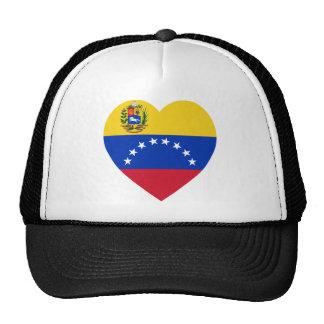 Corazón de la bandera de Venezuela Gorros