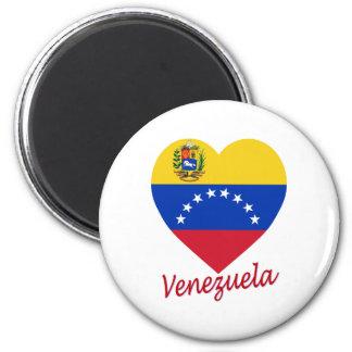 Corazón de la bandera de Venezuela Imán