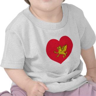 Corazón de la bandera de Wessex Camiseta