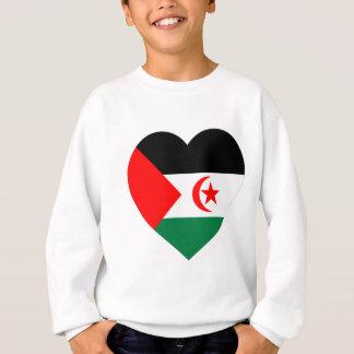 Corazón de la bandera de Western Sahara Sudadera