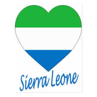 Corazón de la bandera del Sierra Leone Postal