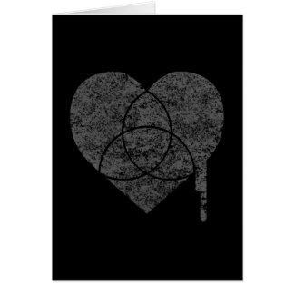 corazón de la carta del grunge tarjeta de felicitación