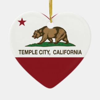 corazón de la ciudad del templo de la bandera de C Adorno
