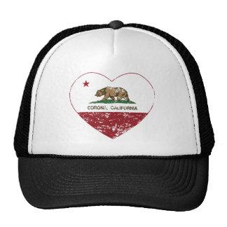 corazón de la corona de la bandera de California a Gorros Bordados