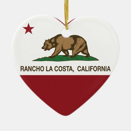 corazón de La Costa del rancho de la bandera de Ca Ornamentos Para Reyes Magos