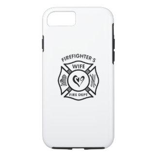 Corazón de la esposa de los bomberos funda iPhone 7