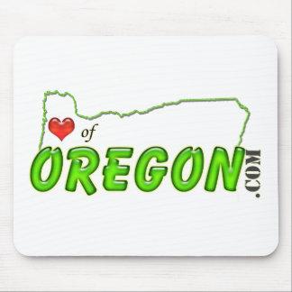 Corazón de la etiqueta de Oregon Alfombrilla De Ratón