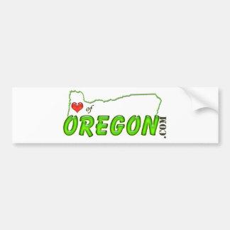 Corazón de la etiqueta de Oregon Pegatina Para Coche