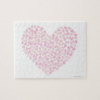Corazón de la flor de cerezo rompecabeza