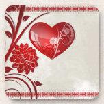 Corazón de la flor posavaso