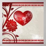 Corazón de la flor posters