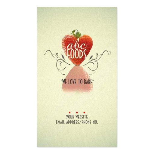 Corazón de la fresa (hornada/decoración del plantilla de tarjeta de visita