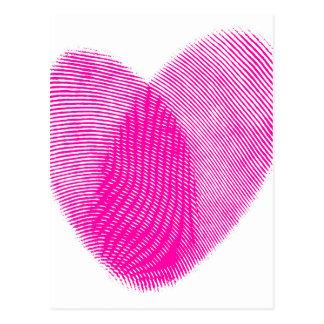 Corazón de la huella dactilar postal