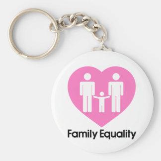Corazón de la igualdad de la familia llavero redondo tipo chapa