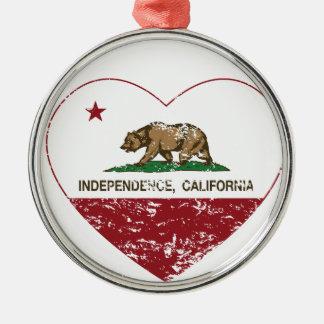 corazón de la independencia de la bandera de Calif Ornamente De Reyes