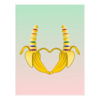 Corazón de la libertad del orgullo gay del plátano postal