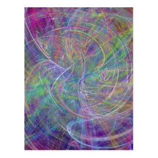Corazón de la luz - extracto del añil de las llama tarjeta postal