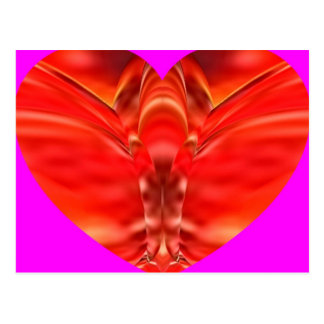 Corazón de la mariposa   - encanto rojo postal