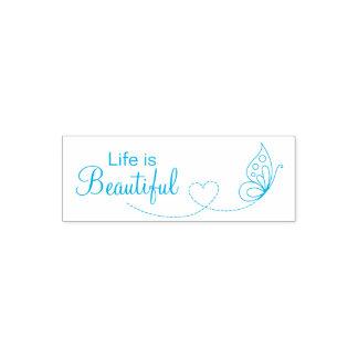 Corazón de la mariposa - la vida es hermosa sello automático