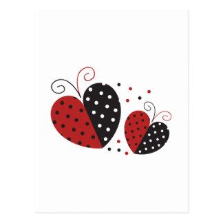 Corazón de la mariquita lindo postal