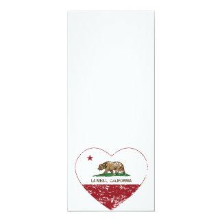 corazón de La Mesa de la bandera de California Invitación 10,1 X 23,5 Cm