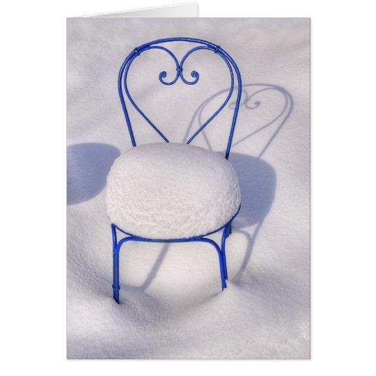 Corazón de la nieve tarjeta de felicitación