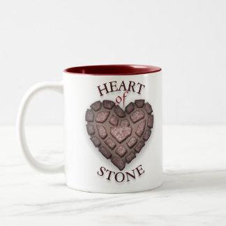 corazón de la piedra taza de dos tonos