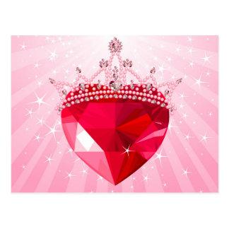 Corazón de la princesa postal