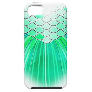 Corazón de la sirena con arte de la escala funda para iPhone SE/5/5s