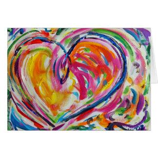 Corazón de la tarjeta de felicitación de encargo