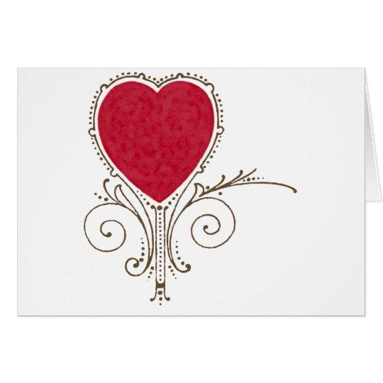 Corazón de la tarjeta del día de San Valentín de