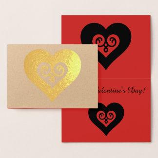 Corazón de la tarjeta del día de San Valentín del