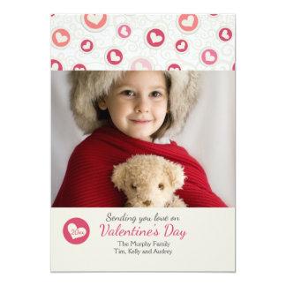 Corazón de la tarjeta del el día de San Valentín Invitación 12,7 X 17,8 Cm