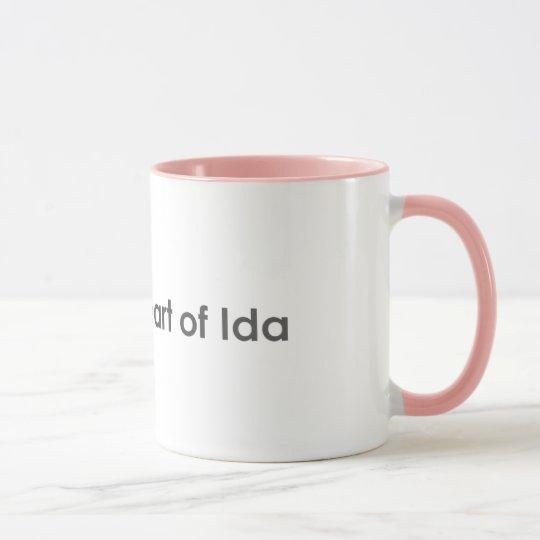 Corazón de la taza del Ida