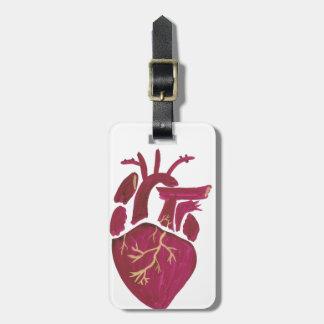 Corazón de la violeta del cobalto etiqueta para maletas