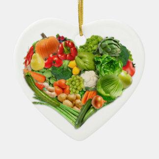 Corazón de las frutas y verduras