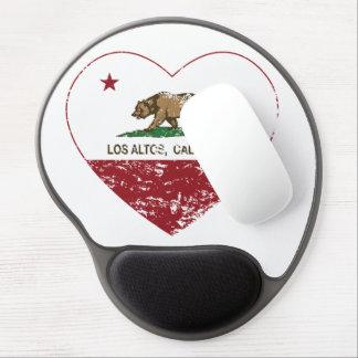 corazón de los altos del los de la bandera de Cali Alfombrilla Gel