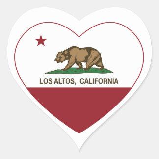 corazón de los altos del los de la bandera de pegatina corazón