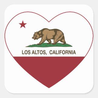 corazón de los altos del los de la bandera de calcomanía cuadradas personalizadas
