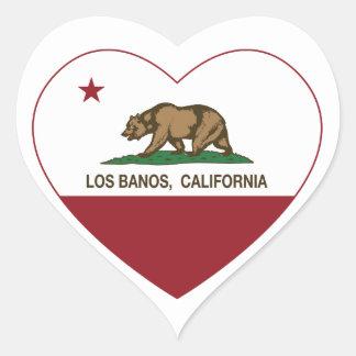 corazón de los banos del los de la bandera de colcomanias corazon personalizadas