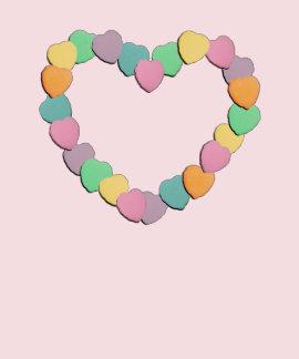 Corazón de los corazones del caramelo de la camiseta