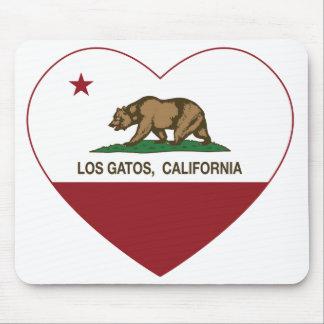 corazón de los gatos del los de la bandera de Cali Tapetes De Ratones