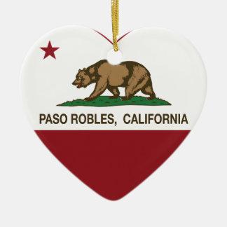 corazón de los robles del paso de la bandera de Ca Ornamento De Navidad